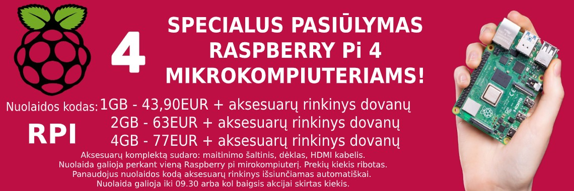 Raspberry Pi + rinkinys