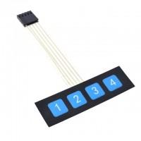 4 mygtukų membraninės klaviatūros modulis