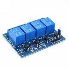 5V 4 kanalų relių modulis