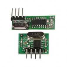 433Mhz siūstuvo WL102-341 ir imtuvo WL101-341 komplektas