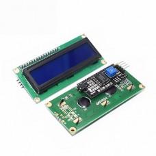 LCD1602 16x2 ekranas mėlynas I2C IIC