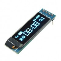 "128x32 OLED ekranas 0,91"" I2C IIC mėlynas"