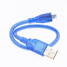 Micro USB kabelis 30cm.