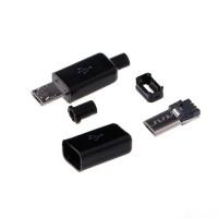 Micro USB kištukas lituojamas
