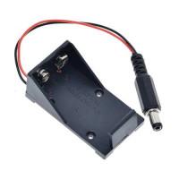 Dėklas 9V baterijai su 5.5*2.1mm jungtimi