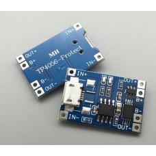 Ličio baterijos krovimo ir apsaugos modulis 5V 1A 18650