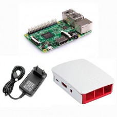 Raspberry Pi 3 model B rinkinys + dėklas + 3A maitinimo šaltinis