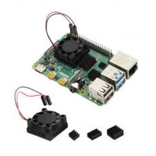 Ventiliatorius su aušintuvais Raspberry Pi 4 model B
