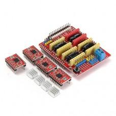CNC priedėlis + 4 x A4988 žingsninių variklių valdikliai