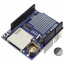 Duomenų registravimo priedėlis v1.0 su SD ir RTC