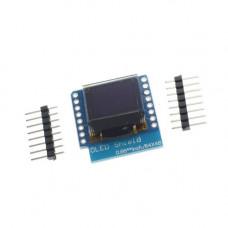 """Wemos D1 mini 0.66"""" OLED priedėlis baltas"""